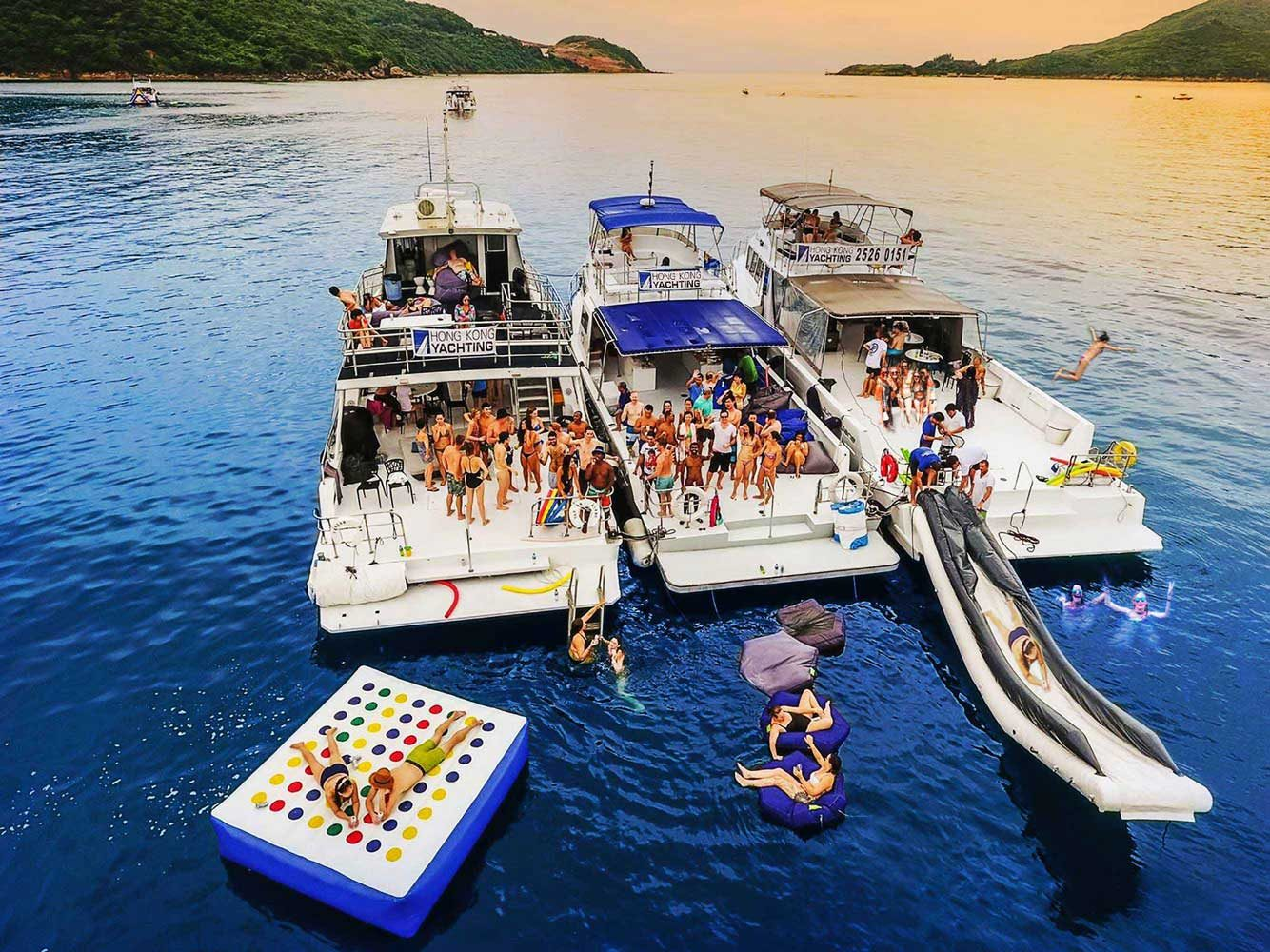Large junk boat party Hong Kong